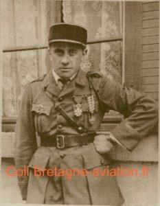 Sous-lieutenant Marcel Coadou au printemps 1919
